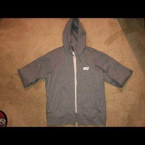 BRAND NEW Nike Grey Zip Up Hoodie, Men's XL